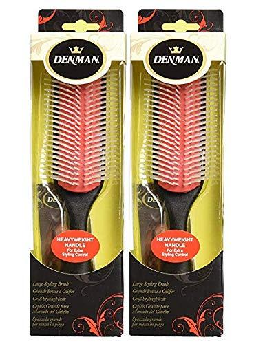 (Denman Heavyweight 9 Row Styling Brush D5, VALUE 2 PACK!)
