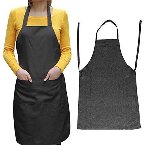 Yahee Küchenschürze Grillschürze Kochschürze Schürze Latzschürze BBQ Arbeitskleidung (Schwarz)