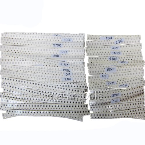 2140 Pcs SAMSUNG SMD 0805 50 Value Resistor & 32 Value Capacitor Assortment Kit