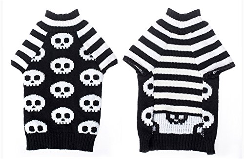 NACOCO Pet Sweaters Skeleton Sweater The Cat Dog Clothes Pet Clothing Little Puppy Dog Sweaters (Small) by NACOCO (Image #3)'