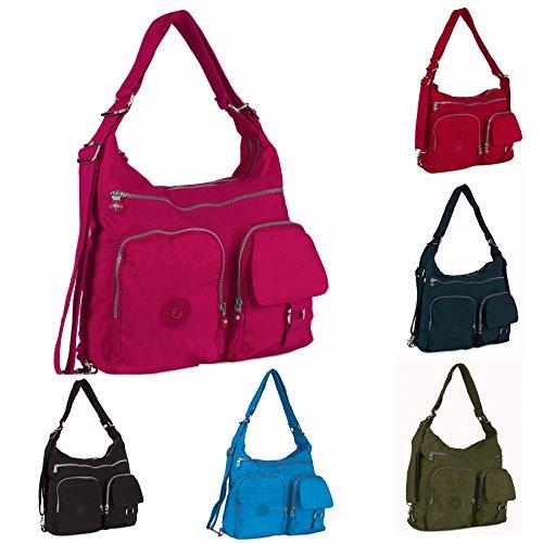 Shop Rainproof Natural Bag Zip Convertible Cross Big Pockets Fabric Brown Messenger Backpack Body Shoulder Handbag 5OwnfW7Ta