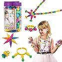 Biubee 180ピース スナップ ポップ ビーズ セット 子供 おもちゃ ポップ ビーズ DIY ジュエリー リング ブレスレット ネックレス 3 4 5 6 7 8 歳 女の子 幼児用