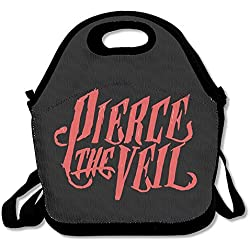 Red Pierce The Veil Lunch Box Bag For Student Kids Adult Men Women Girl Boy,lunch Tote Lunch Holder With Adjustable Strap ,double Shoulder