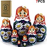 Nesting Dolls - Matryoshka Matrioskas Babushka Matruska Russian 7 Nesting Dolls for Kids - Matryoshka Russian Nesting Doll