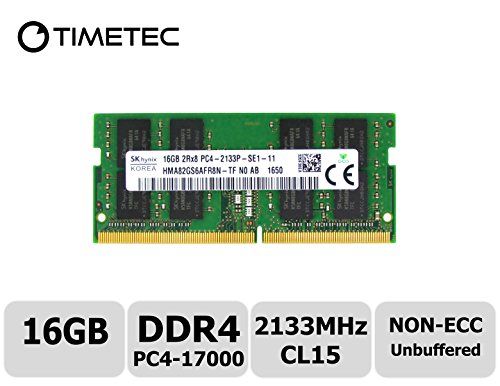 Timetec Hynix IC DDR4 2133MHz PC4-17000 Non ECC Unbuffered 1.2V CL15 2Rx8 Dual Rank 260 Pin SODIMM Laptop Notebook Computer Memory Ram Module Upgrade (16GB) (3 Pst Series)