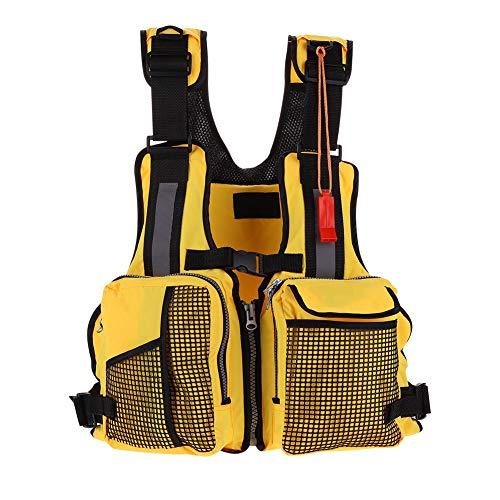 - VGEBY Fishing Life Jacket, Comfort Series Angler Vest Swimming Boating Kayak Life Jacket Fisherman Personal Floatation Device (Yellow)