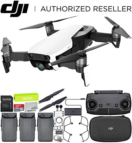 Cheap DJI Mavic Air Drone Quadcopter (Arctic White) Ultimate Bundle