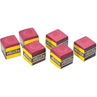 Formula Sports Pioneer Snooker Pool Billiards Cue Chalk, 6 Pieces Pack, Red