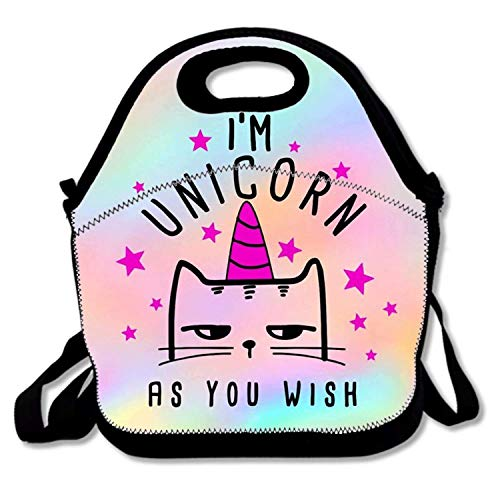 field tree Adults/Men/Women/Kids Cat Unicorn Caticorn Bento Boxes Rugged Lunch Bag Traval School Work Lunchbox Multi-fonction Handbag -