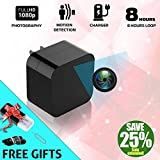 2018 Model: Spy Camera Wall Charger, Night Vision-1080P HD Resolution, Nanny Cam USB Security Camera, Supports 128GB SD Memory Card - Superior Motion Detection, Wi-Fi Viewing. Free Charger. No Audio.
