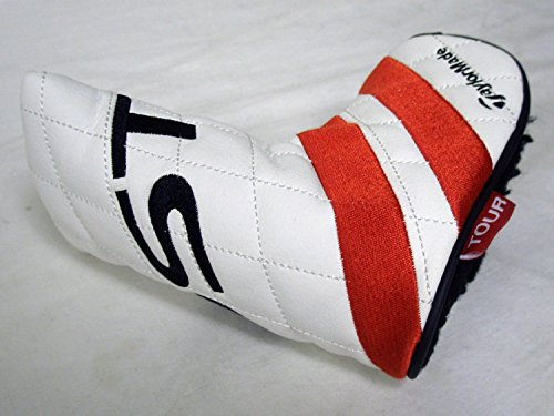 [Taylor Made Ghost Tour Putter Headcover (White/Red Stripe, Blade) Club Cover] (Fontana Cover)