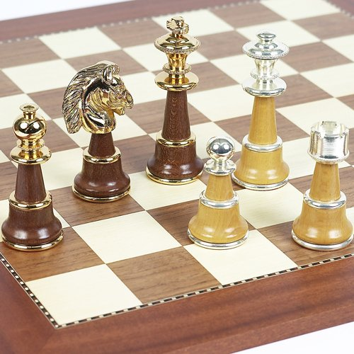 Bello Games Collezioni - Sorrento Luxury 24K Gold/Silver Plated Chessmen from Italy