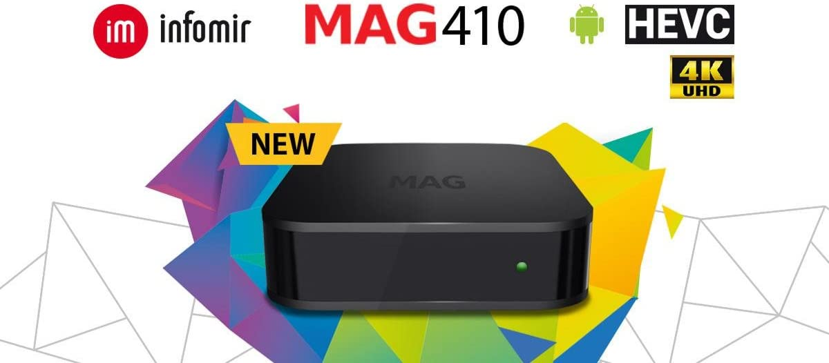 mag 410 UHD 4k Android IPTV Receiver H-265/ HEVC: Amazon.es: Electrónica