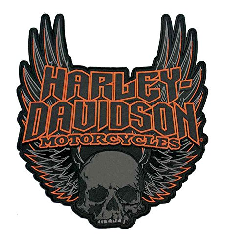 - Harley-Davidson Gothic Winged Skull Embroidered Emblem, 3XL Size Patch EM108307