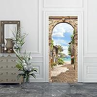 Hliang B/ücherregal 77 cm x 200 cm Poster Adesivo da Porta e pareti murale Foglio di Porta Adesivo per pareti e Porte Formato Grande Trompe LOeil Porta-Giardino