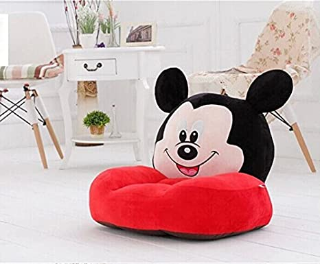 star all mickey mouse plush baby sofa chair multicolour amazon in rh amazon in