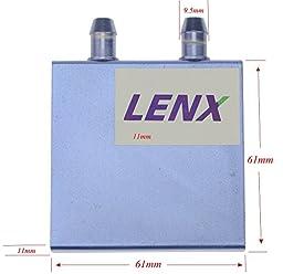 BXQINLENX Aluminum Water Cooling Block for CPU Graphics Radiator Heatsink 61x 61x11mm Blue