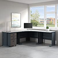 Series A 84W x 84D Corner Desk with Mobile File Cabinet