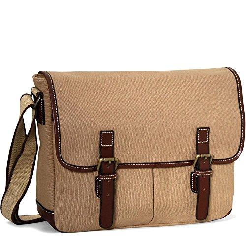 Jack Georges Canvas Messenger Bag CV 456 (KHAKI)