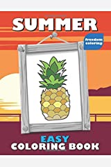 Summer: Easy Coloring Book for Adults with Large Print and Single Sided, Framed Pictures - Just Right for Relaxing on Vacation (Coloring Books for Beginners) Paperback