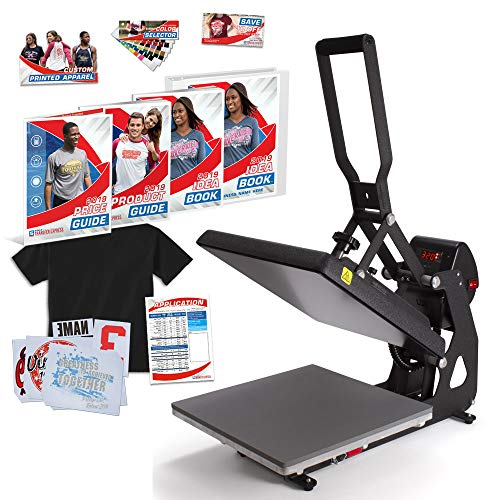 """MAXX Clam 15"""" x 15"""" Heat Press Bundle with Marketing Kit - Warranty - Made in USA"""