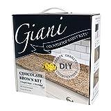 granite kitchen countertops Giani Countertop Paint Kit, Chocolate Brown