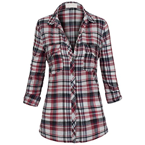 Womens Button Lightweight Cotton Relaxed product image