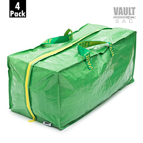 Storage Bags [4 PACK] Space Saver Bags | Garment, Clothes, Duvet Storage Bags | Plastic Bag Storage | Storage Bins | Storage Containers | Clear View Window | Handbag Storage | Backpack Storage Basket