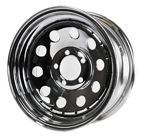 2-Pack Trailer Rim Wheel 13 in. 13X4.5 5 Lug Hole Bolt Chrome Modular