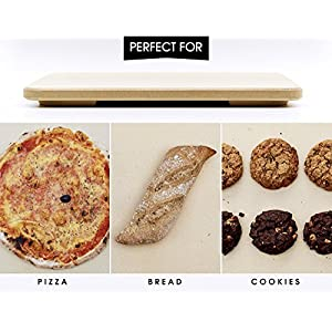 #1 Pizza Stone – Baking Stone. SOLIDO Rectangular 14″x16″ – Perfect for Oven, BBQ and Grill