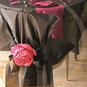 Fiestas y Decoración - Cubre Sillas 10 Cinta de raso - Plata