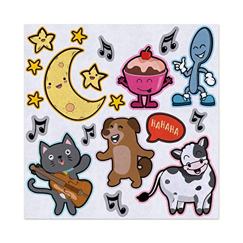 - Hey Diddle Diddle Nursery Rhyme Felt Play Art Set Flannel Board Story Storyboard Pieces