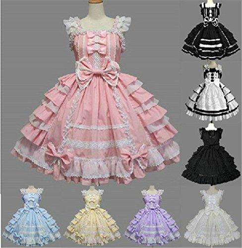 Gothic Prinzessin Ma Cosplay Rosa Dress Party Lanrui Lolita Kleid Kostüme Abendkleid Classic nach CZqwnO6