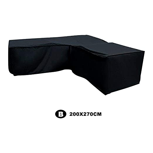 Funda Protectora Impermeable de ratán para sofá 210D de la Marca asterisknew, a Prueba de Polvo y Polvo, para Exteriores, Plegable, en Forma de L, ...