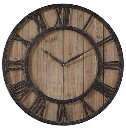 (Uttermost 06344 Powell Wooden Wall Clock)