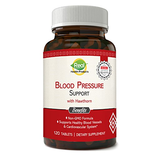 Natural Blood Pressure Supplement – Supports Healthy Heart, Blood Vessels, Reduces Tension and More. 120 Tablets