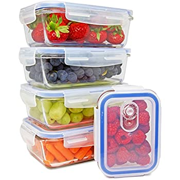 Amazoncom Glass Meal Prep Containers Glass Storage Containers