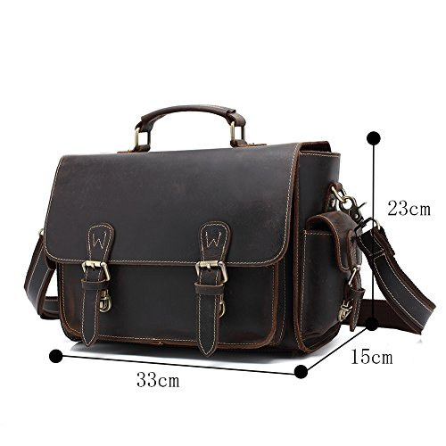 Genda 2Archer Genuine Leather Vintage Waterproof Camera Case Cross-body Shoulder Messenger Bag by Genda 2Archer