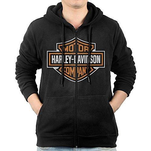 Celets Harley Davidson Logo Men's Custom Long Sleeve Zipp...