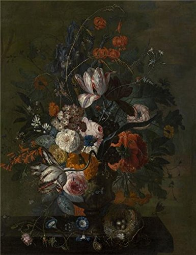 Oil Painting 'Justus Van Huysum - Bouquet Of Flowers, 17th Century' Printing On High Quality Polyster Canvas , 10x13 Inch / 25x33 Cm ,the Best Laundry Room Decoration And Home Gallery Art And Gifts Is This High Definition Art Decorative Prints On Canvas