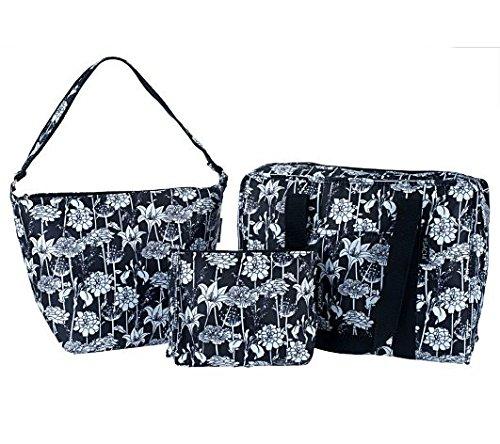Sachi Set of 3 Multi-Shaped Bags (Black)