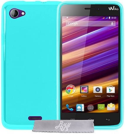Coque Gel transparent Turquoise Wiko Jimmy Stylet 3 Films OFFERTS