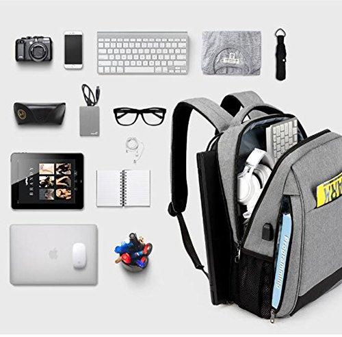 Business Rucksack Männer Freizeit Männer Rucksack 15,6 Zoll Stoßfest Computer Rucksack Reise Student Schultasche Gray