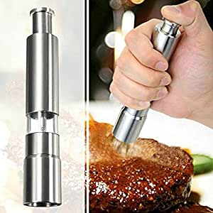Saver Stainless Steel Thumb Push Salt Pepper Spice Sauce Grinder Stick Tool