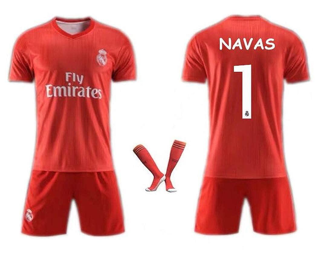 first rate 64d37 3b34d Amazon.com: LISIMKE Soccer Team 2018/19 Real Madrid Away ...
