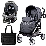 Peg Perego Switch Four Travel System with a Diaper Bag - Pois Grey