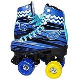 Patins 4 Rodas Roller Clássico Tradicional Bw-020 30/31 - Azul