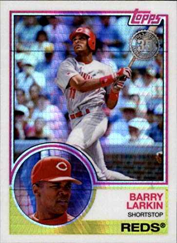 2018 Topps Update 1983 Chrome Silver Wrapper #110 Barry Larkin Cincinnati Reds MLB Baseball Trading Card