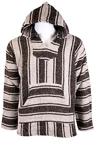 (IWS Classic Mexican Style Baja Jacket (2XL, Brown))