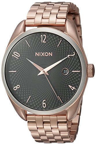 Nixon Women's 'Bullet' Quartz Stainless Steel Automatic Watch, Color:Rose Gold-Toned (Model: A4182361-00)